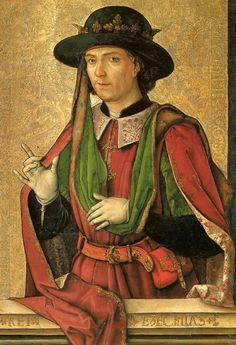 Pedro Berruguete - Rey Ezequías (rojo)
