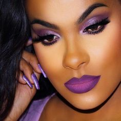 40 Stunning Purple Lipstick Makeup Ideas For You - Page 32 of 40 Atemberaubende lila Lippensti Flawless Makeup, Gorgeous Makeup, Love Makeup, Beauty Makeup, Makeup Looks, Hair Makeup, Makeup Quiz, Makeup Names, Glamour Makeup