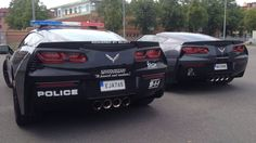 Corvette Police Cars - wow!