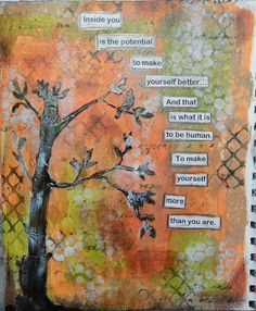 Inside You...an mixed media art journal page