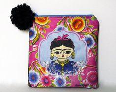 Bordado a mano cartera Frida Kahlo por Chunchitos en Etsy