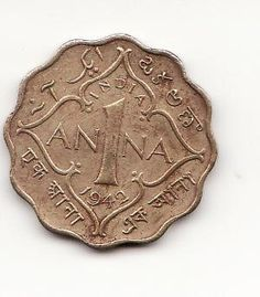 British Indian Copper Coin: One Anna Antique Coins, Antique Metal, Coin Auctions, Foreign Coins, Gold And Silver Coins, Vintage India, Old Money, World Coins, Rare Coins