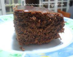 Bolo de Chocolate Macio - delicinhasecoisinhas.blogspot.com