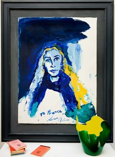 The late Franca Sozzani, captured in a painting by Julian Schnabel   archdigest.com