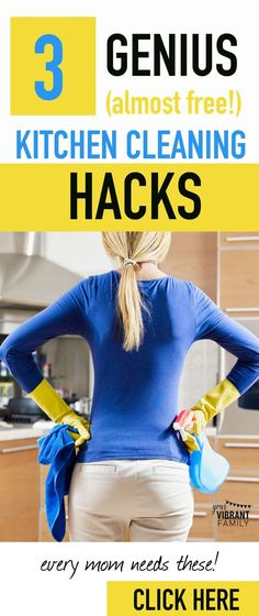 WOW! Who would have thought?! These kitchen cleaning tips are so easy and totally cheap! I can't wait to try them (especially #2...)