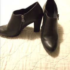 Booties Worn one time only. Great condition. Zippers on both sides with a snake skin texture. Dana Buchman Shoes Ankle Boots & Booties