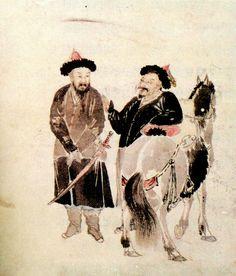 청나라 병사를 그린 호병도(胡兵圖). 김창업의 아들이자 유명한 화가였던 김윤겸이 그렸다.(국립중앙박물관 소장)
