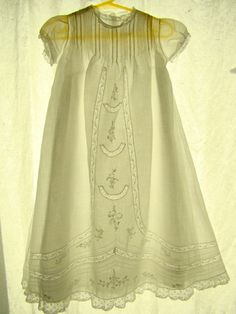 Vintage All Cotton bml Christening Gown and Slip Its Beautiful