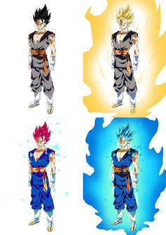 Dragon Ball Super - Forms of Vegito by moxie2D on DeviantArt