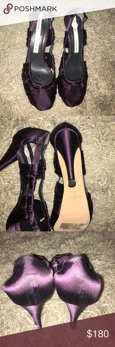 Beautiful Dusica Kotur Sacks Pumps Brand New! I love these Pumps super sexy and a must have!!!  Made in Italy.  Color: Purple Fabric:  Satin/Silk Dusica Kotur Sacks Shoes Heels