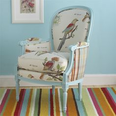 ahhhh. love the mismatch fabric on the back and the front. not sure about the birds, but i like the idea.