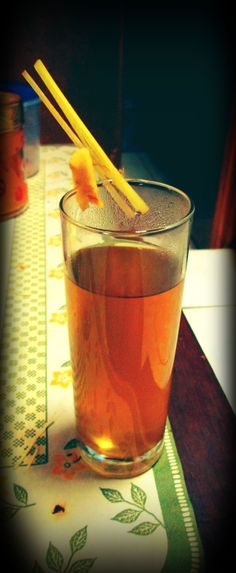 Proud to be Indonesian, this traditional drink called 'wedang jahe' is my favorite one. taste like heaven :3
