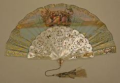 Fan Made Of Shell, Paper, Silk And Metal, By Tiffany & Co. (1837-Present) - French  c.1850-1875   -   The Metropolitan Museum Of Art