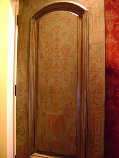 Ornamented powder bath door for New Orleans Client -Jeff Huckaby Studio Phoenix AZ