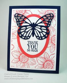 Butterflies Bundle swap cards shared by Dawn Olchefske #dostamping #stampinup (Connie Tumm)