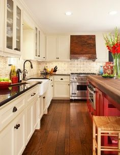 colors and copper hood Baby Boomer Kitchen Makeover - traditional - kitchen - dallas - Dallas Renovation Group