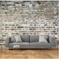 murando Photo Wallpaper cm Non-Woven Premium Art Print Fleece Wall Mural Decoration Poster Picture Design Modern Flower Floral Nature Brick Wallpaper For Sale, Wall Art Wallpaper, Brick Wallpaper, Mural Wall Art, Photo Wallpaper, Brick Interior, Interior Design, Brick Loft, Old Wall