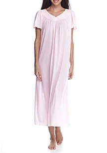 e12d034118 Miss Elaine Tricot Flutter Sleeve Long Gown. Flutter SleeveSweet Dreams