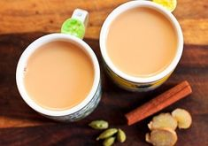 Masala chai, or mixed spice tea, is a drink from India made by brewing black tea with milk and a mixture of spices like . Masala Chai, Ginger Tea, Fresh Ginger, Chai Tea Concentrate Recipe, Indian Food Recipes, Healthy Recipes, Ethnic Recipes, Starbucks, Low Calorie Smoothies