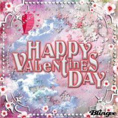 Happy Valentines Day In Pink To All My Friends