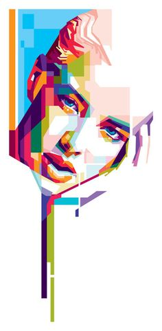 Potrait Drawing Agyness on Behance - Abstract Portrait, Portrait Art, Graffiti, Pop Art Portraits, Wow Art, The Design Files, Arte Pop, Coreldraw, Grafik Design