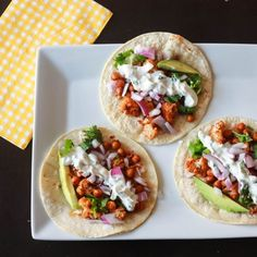 Roasted Cauliflower Tacos. So delicious!! #HealthyEating #CleanEating   Sherman Financial Group