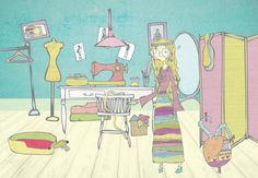 #illustration #room #fashion #design #bohemio #hippie