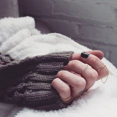 Dainty Rings and Cozy Sweaters #markkit #accessories #rings #jewelry