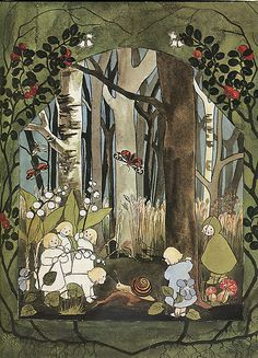 "Sibylle Von Olfers ""The Root Children"" - Spring Art And Illustration, Fairy Land, Fairy Tales, Fairytale Art, All Nature, Vintage Children, Faeries, Childrens Books, Images"
