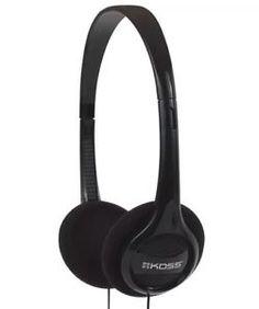 #Headphones Koss KPH7 Lightweight Portable Black Wired New
