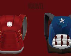 Designer Backpacks, Marvel Cinematic, New Work, Captain America, My Design, Behance, Gallery, Check, Creative