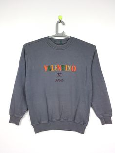 Excited to share this item from my shop: Vintage VALENTINO Sweatshirt S size Valentino 2017, Valentino Couture, Valentino Dress, Vintage Crewneck Sweatshirt, Crew Neck Sweatshirt, Graphic Sweatshirt, Teen Fashion Outfits, Cool Outfits