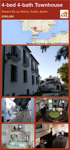 Townhouse for Sale in Zahara De La Sierra, Cadiz, Spain with 4 bedrooms, 4 bathrooms - A Spanish Life Cadiz Spain, Log Burning Stoves, Lakeside View, Air Conditioning Units, Sierra, Open Plan Living, Malaga, A Boutique, Townhouse