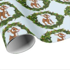 Cute Baby Deer Christmas Wrapping Paper - diy cyo customize create your own personalize