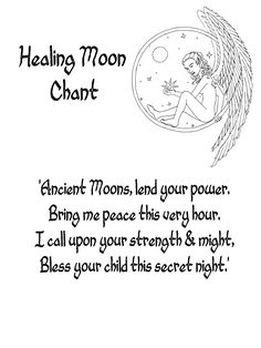 Chant to the Moon for healing