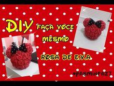 Festa Minnie - #YasminFaz7 - DIY Rosa de Eva para Topiaria Minnie - YouTube