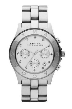 Damenuhr Chronograph Marc by Marc Jacobs Blade MBM3100, silber von Marc by Marc Jacobs bei Elektroshop Wagner
