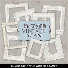 digital white frames-tons of other digital freebies via farfarhill.blogspot.com