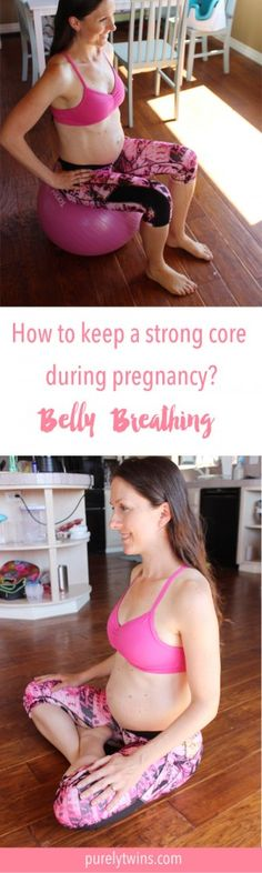 Belly breathing is important to do during pregnancy to keep your core strong. It will help with delivery, post partum recovery and diastasis. Think of it as a gentle hug to your baby and midsection. CLICK to see the video of me doing belly breaths.
