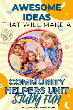 Check out these awesome ideas to help you teach all about community helpers! #communityhelpers #homeschool #unitstudies #unitstudy