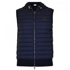Chaleco Moncler Hombre Quilted Hooded Navy