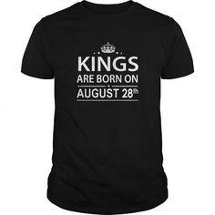 I Love Birthday August 28 Shirts King are born T Shirt Hoodie Shirt VNeck Shirt Sweat Shirt for womens and Men Shirts & Tees
