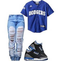 Dodgers ♡ by prettygirlnunu on Polyvore