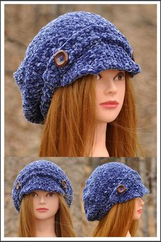 Chenille Poor Boy Hat looks amazing on. This hat fits extremely well to most of ladies and it is very easy to wear. Machine wash under delicate cycle and flat dry. This hat is great for all age groups and styles. Staying warm was never this fashionable. * popular design * one size fits all * trendy and luxurious * chenille - velvet feel *  Hand Knitted Stay Warm, One Size Fits All, Scarfs, Blue Denim, Hand Knitting, Knitted Hats, Delicate, Velvet, Age