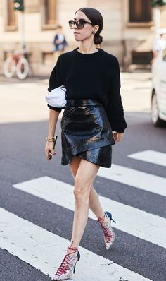 See how street style stars are wearing patent leather, then shop our own affordable version for Target.