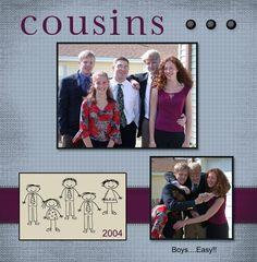 Cousins scrap book page