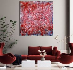 Zatista Website Images, Expressionism, Earthy, Red And White, Original Art, Fine Art, This Or That Questions, Abstract, Canvas