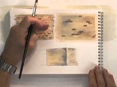 Watercolour Buildings Lesson - Bricks Old & New - YouTube