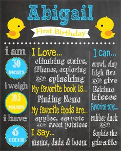 Rubber Duckie Themed First Birthday by PintSizePartyDesigns, $15.00