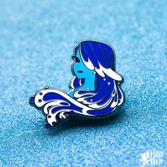 Hard enamel pin featuring my Made of Water design! This pin has two posts so it doesn't spin around! Pins Diy, Bag Pins, Jacket Pins, Hard Enamel Pin, Pin Enamel, Cool Pins, Vintage Paper Dolls, Metal Pins, Mo S
